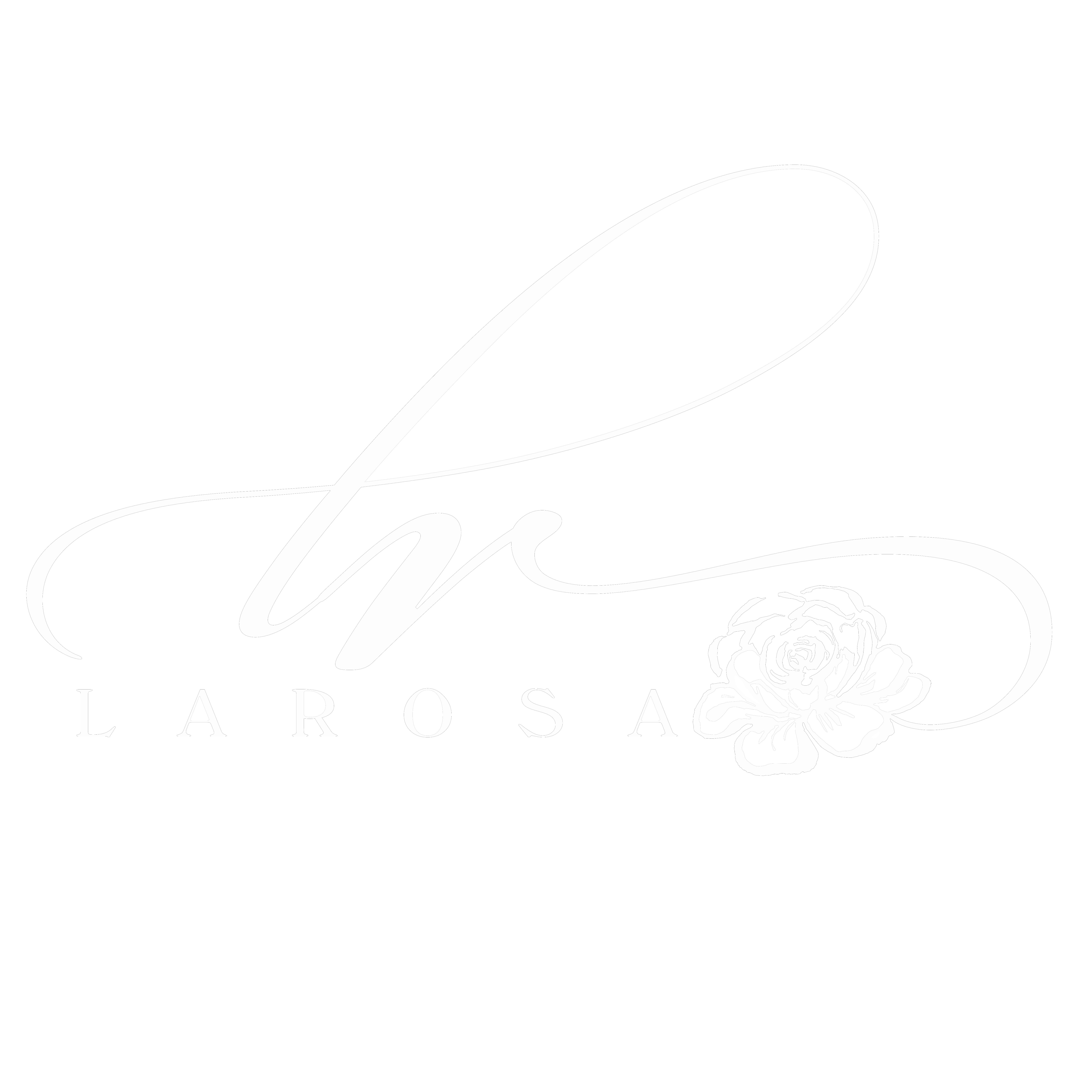 Larosa Weddings Logo White