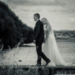 the couple walking on bridge, Wedding Photography of Crystal and Conner