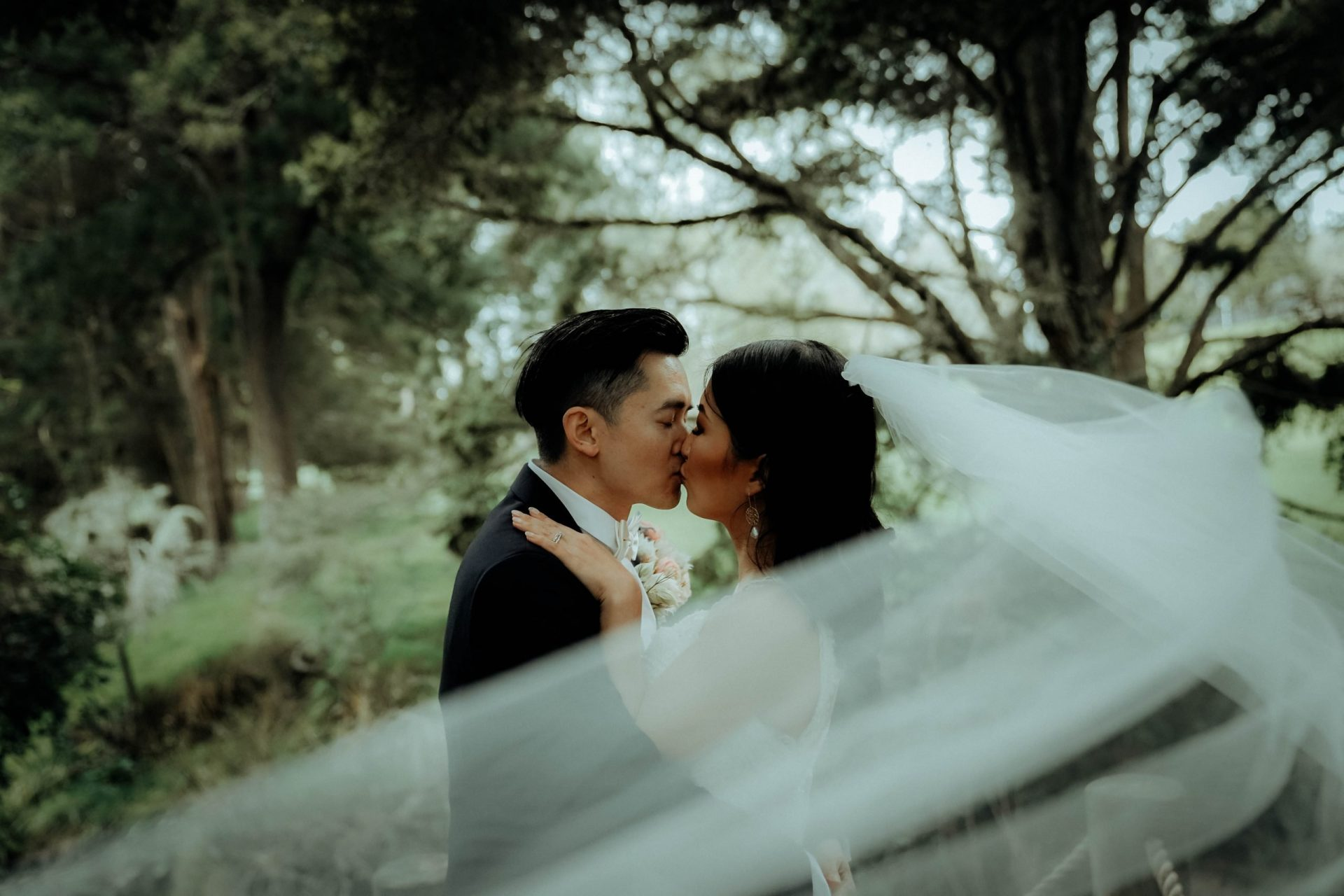 couple is kissing each other, Wedding Photography of CC and Sean