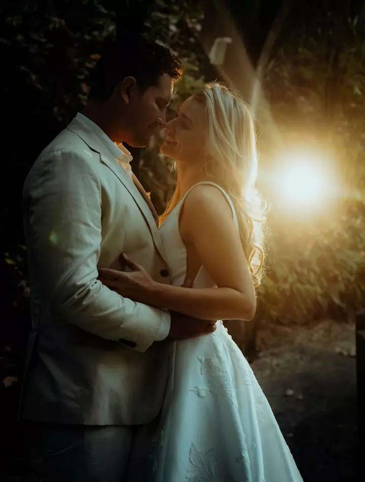 couple is seeing each other's happily, Wedding Photography of Erin and Zac
