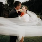 Excited groom and bride photo by LaRosa Wedding photography in Auckland