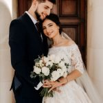 LaRosa Wedding Photography for a couple that standing happily bank of the river